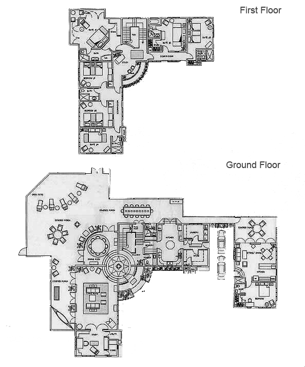 Floor Villa Plan Design